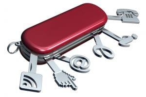 icons on a Swiss army knife