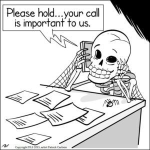 Call routing cartoon